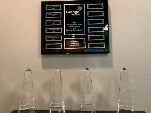 Dickerson Agency Awards on a Shelf
