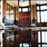 a room flooded with standing water